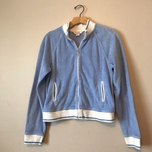 Victoria Secret jacket zip up baby blue velour
